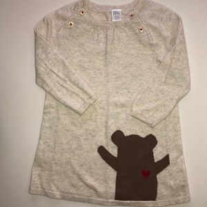 Nordstrom Baby sweater dress with bear and heart